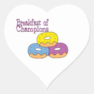 Breakfast Of Champions Heart Sticker
