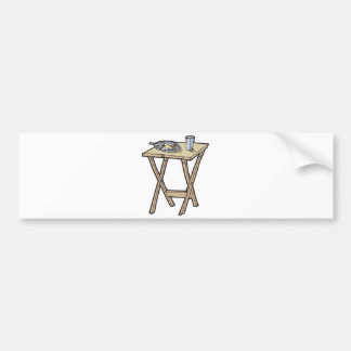 breakfast on a snack tray table bumper sticker