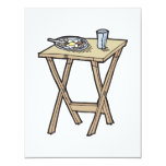 breakfast on a snack tray table personalized invite