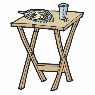 breakfast on a snack tray table photo cut out