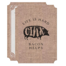 Breakfast or Brunch Picnic Party for Bacon Lovers Card