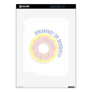 Breakfast or Dessert Decals For iPad 2
