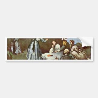 Breakfast Outdoors By Paul Cézanne (Best Quality) Car Bumper Sticker