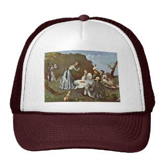 Breakfast Outdoors By Paul Cézanne (Best Quality) Trucker Hat