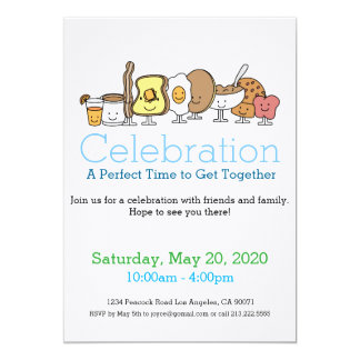 Cartoon Breakfast Invitations & Announcements | Zazzle