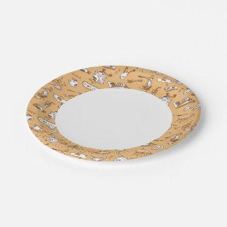 Breakfast Pattern 2 Paper Plate