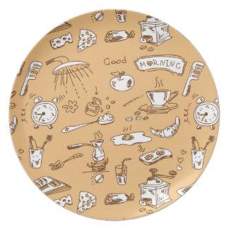 Breakfast Pattern 2 Plate