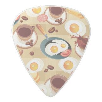 Breakfast Pattern 3 Acetal Guitar Pick