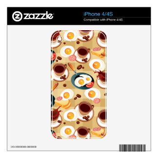 Breakfast Pattern 3 Decal For The iPhone 4