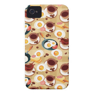 Breakfast Pattern 3 iPhone 4 Cover