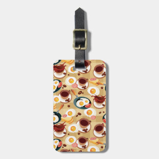 Breakfast Pattern 3 Luggage Tag
