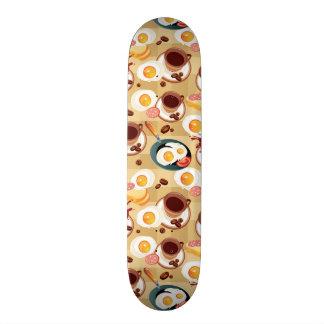 Breakfast Pattern 3 Skateboard Deck