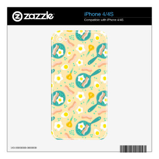 Breakfast Pattern iPhone 4 Decal