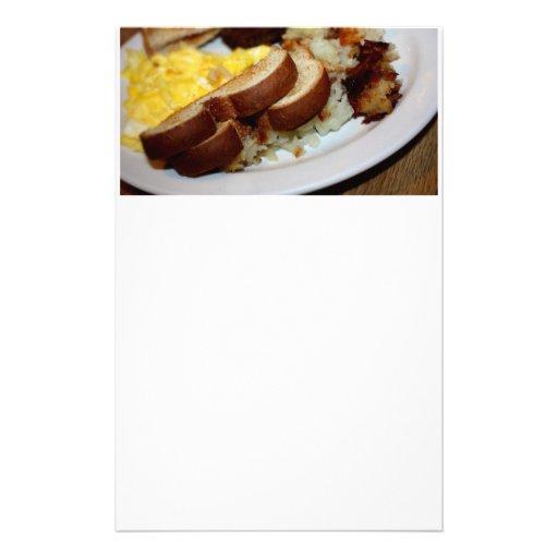 Breakfast Pile Custom Stationery