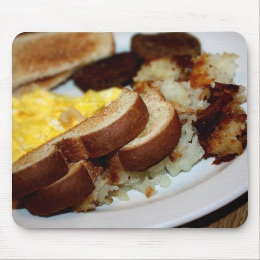 Breakfast Pile Mouse Pad