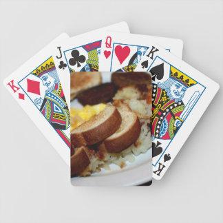 Breakfast Pile Bicycle Poker Cards