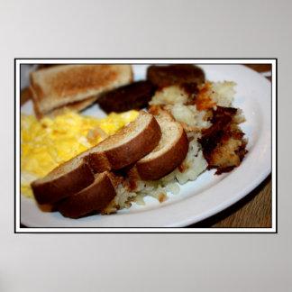 Breakfast Pile Poster