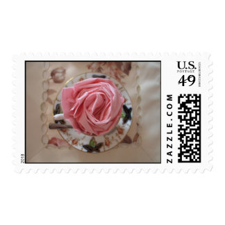 Breakfast Rose Cup Stamp