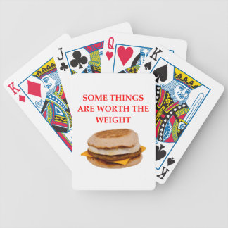 breakfast sandwich bicycle playing cards