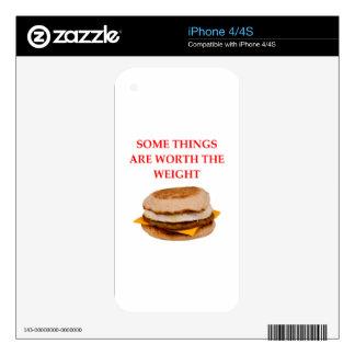 breakfast sandwich skin for the iPhone 4S