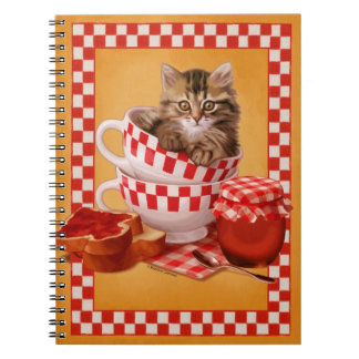 Breakfast Siberian Kitten Notebook