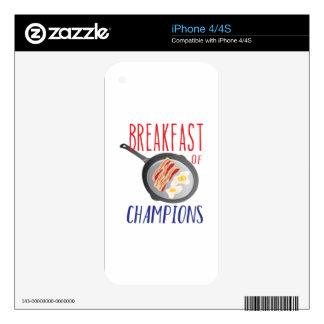 Breakfast Skins For The iPhone 4