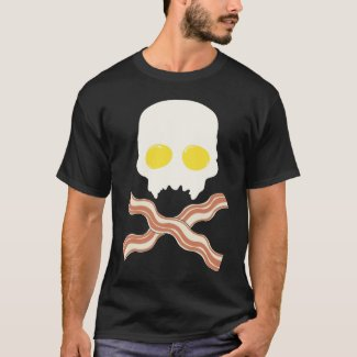 Breakfast Skull T-Shirt
