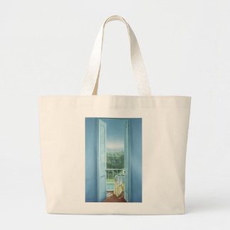 Breakfast St. Maxime 1984 Large Tote Bag