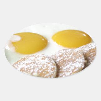 Breakfast Oval Sticker