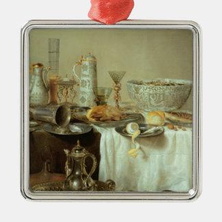Breakfast Still Life, 1638 Metal Ornament