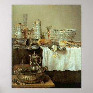 Breakfast Still Life, 1638 Poster