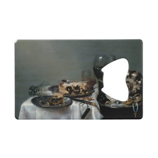Breakfast Table with Blackberry Pie by Heda Credit Card Bottle Opener