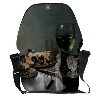 Breakfast Table with Blackberry Pie by Heda Messenger Bag