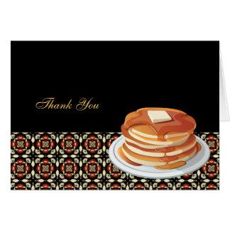 Breakfast thank you card