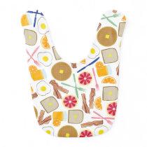 Breakfast Themed Baby Bib