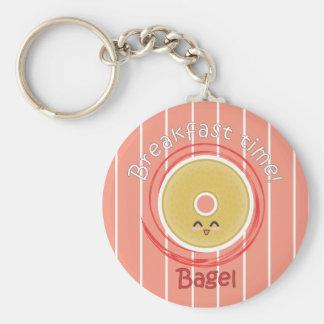 Breakfast Time - Bagel Keychain