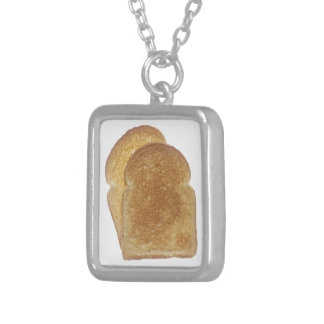 Breakfast Toast Personalized Necklace