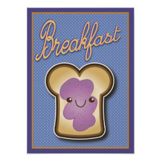 Breakfast Toast Poster