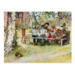 Breakfast under the Big Birch by Carl Larsson Post Cards
