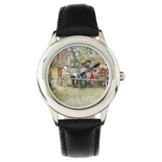 Breakfast under the Big Birch by Carl Larsson Wristwatches