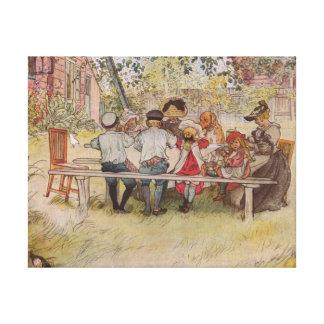 Breakfast Under the Big Birch Canvas Print