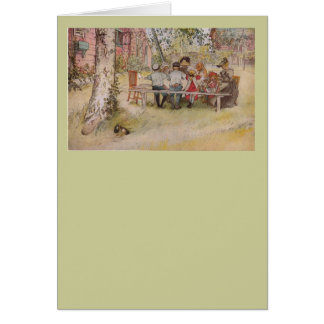 Breakfast Under the Big Birch Card