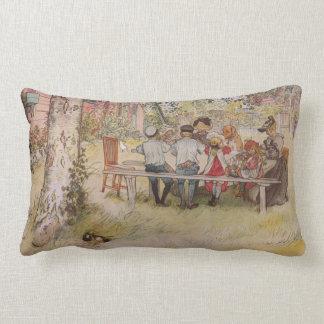 Breakfast Under the Big Birch Throw Pillow