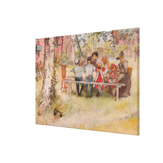 Breakfast Under the Birch by Carl Larsson Canvas Print