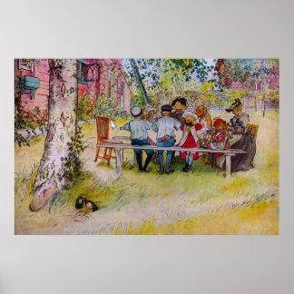 Breakfast Under The Birch - Carl Larsson Print