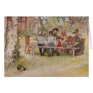 Breakfast under the Birch Tree Card