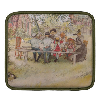 Breakfast Under the Birch Trees iPad Sleeve