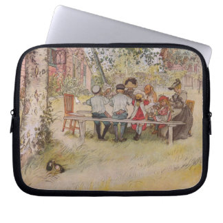 Breakfast Under the Birch Trees Laptop Computer Sleeves