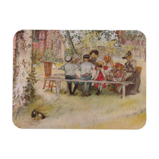 Breakfast Under the Birch Trees Magnet
