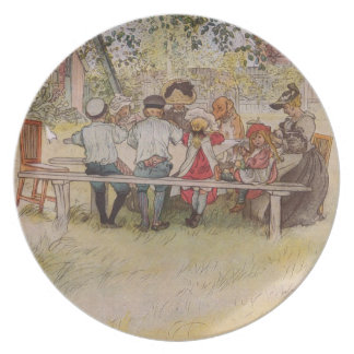 Breakfast Under the Birch Trees Party Plate